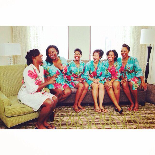 #blackbride #wedding #blackgirlsgetmarriedtoo #bridesmaids #bride #robes