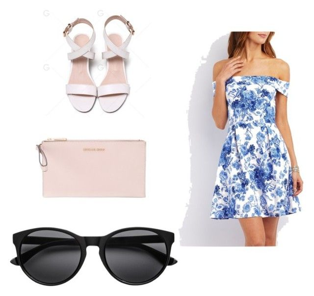 """Pink and blue"" by kaylapaige12 on Polyvore featuring Charlotte Russe and MICHAEL Michael Kors"
