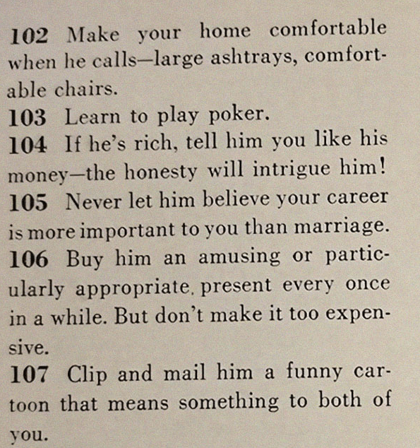 This Throwback 129 Ways To Get A Husband Article Shows