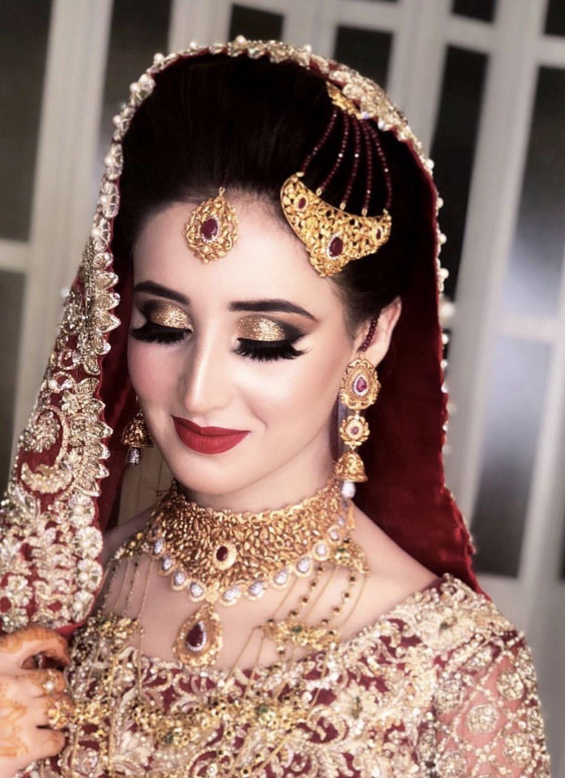 Baraat makeup Pakistani bridal makeup, Bridal makeup