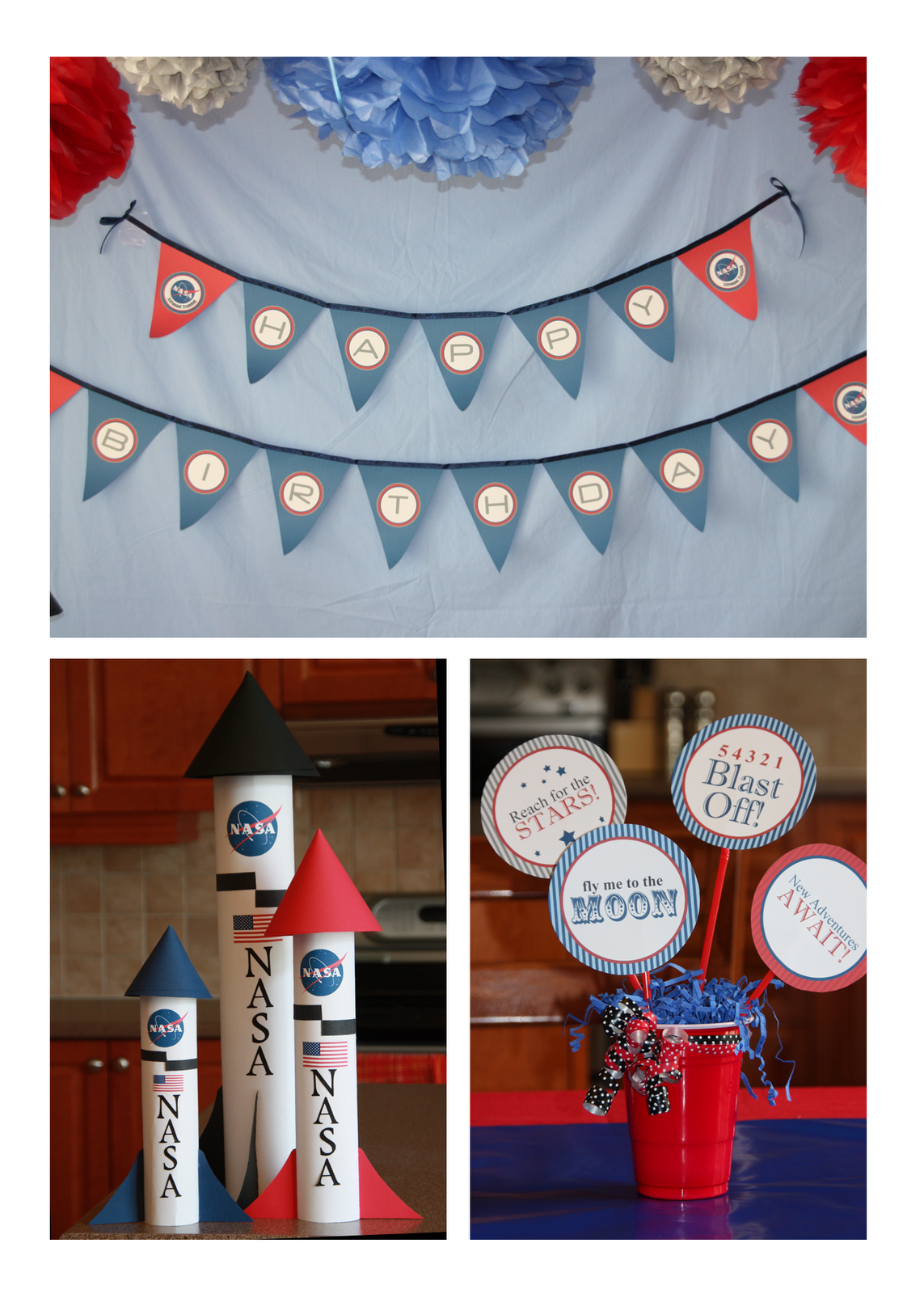 NASA Astronaut Training Printable Decorations Space Party - Astronaut decorations