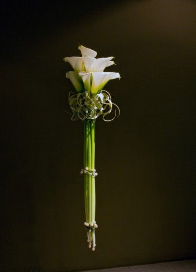 Calla Bouquet with European Collar --the collar and beads make this very unique.  Is it a little too contemporary for you?