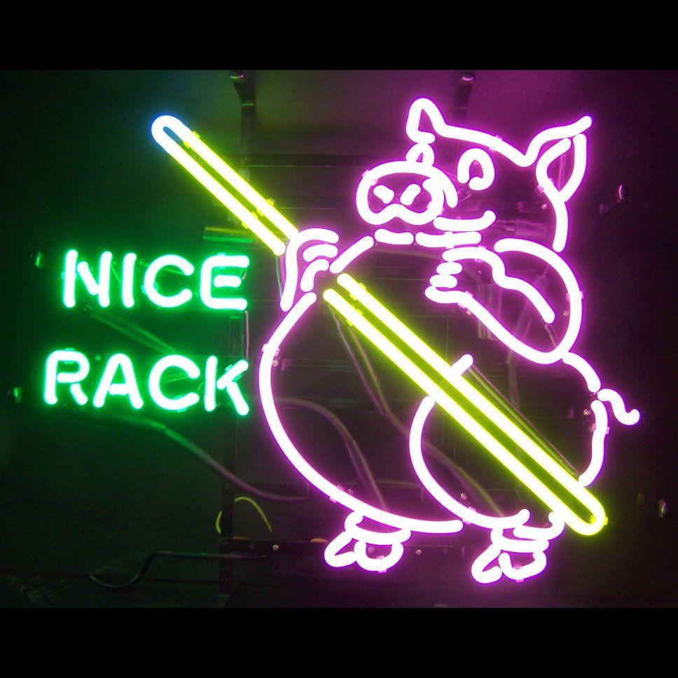 Pig Pool Nice Rack Neon Sign