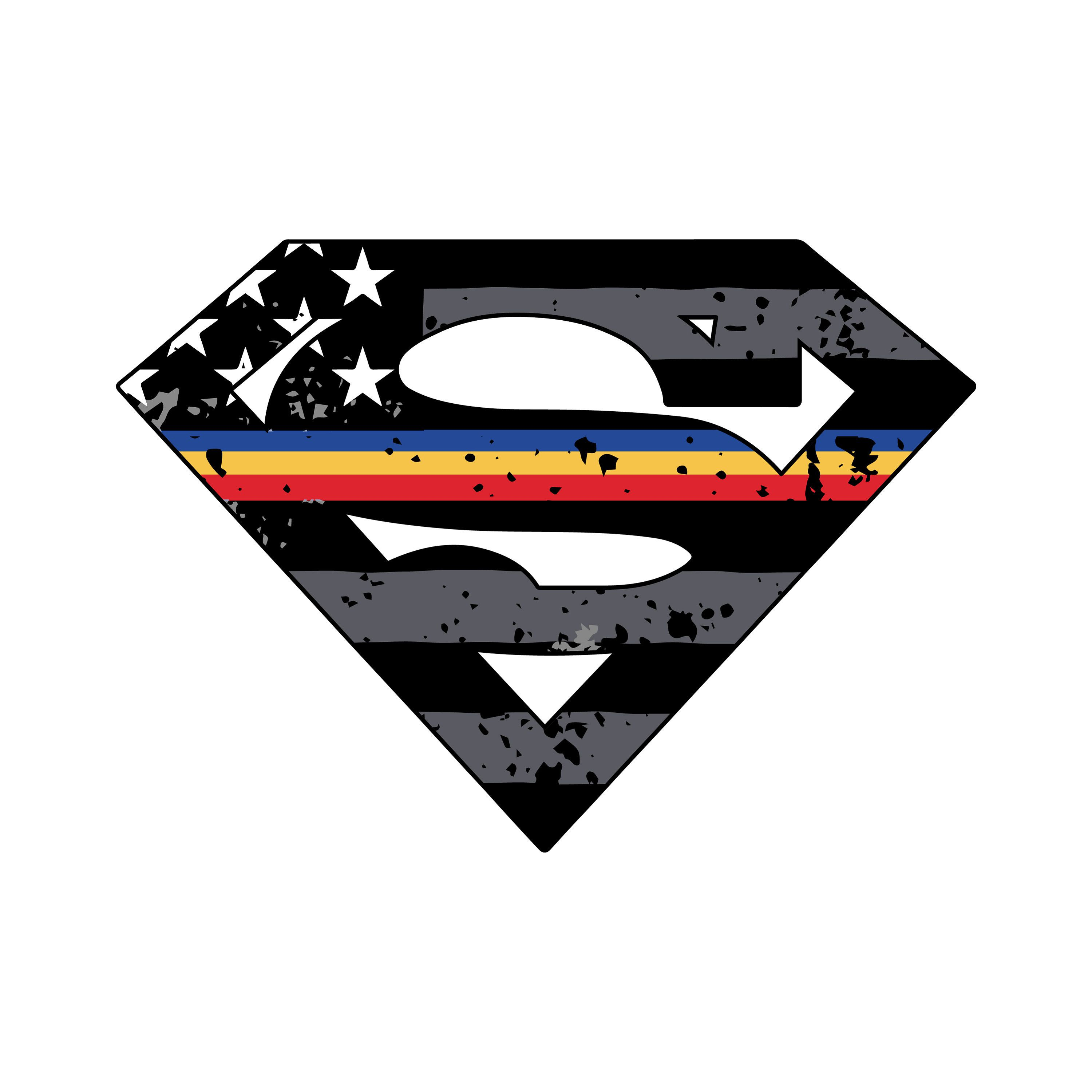 Thin Blue Gold Red Line Superman Vehicle Decal Vinyl Decal Etsy Nurse Stickers Vinyl Decals Police Decal [ 3000 x 3000 Pixel ]