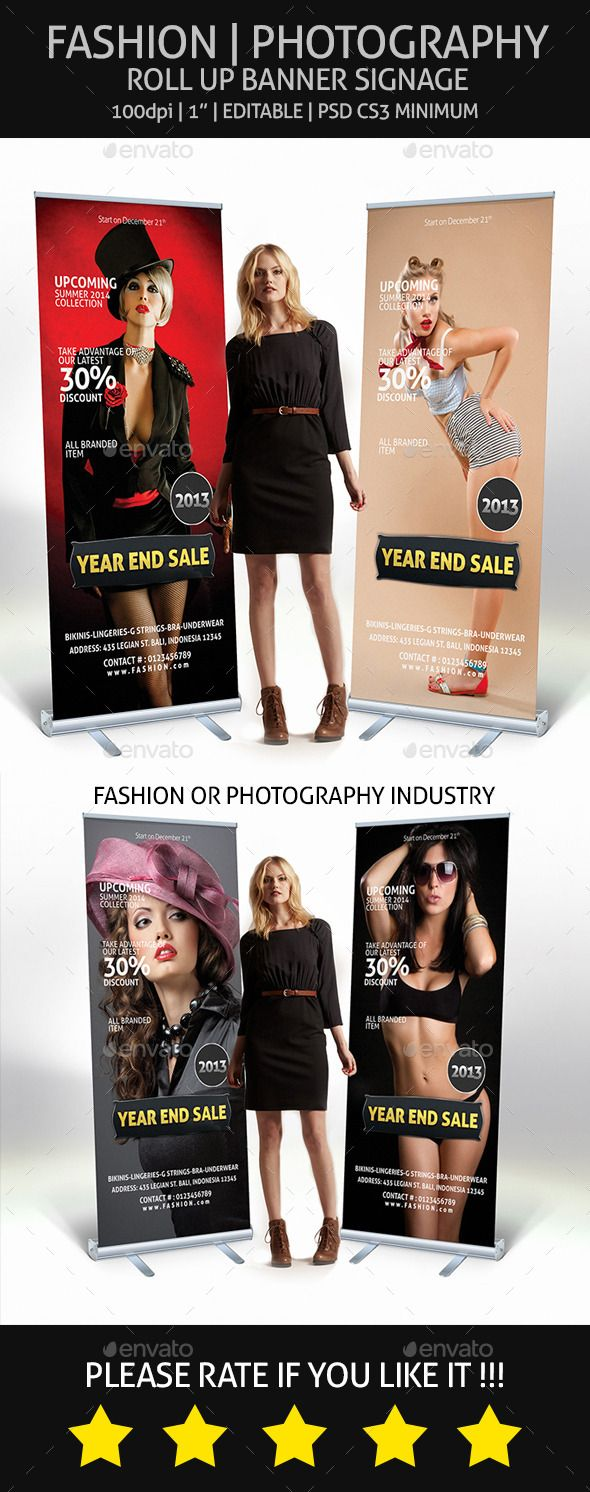 Fashion  Photography ¨C Roll Up Banner Signage, for fashion industry, photograp...