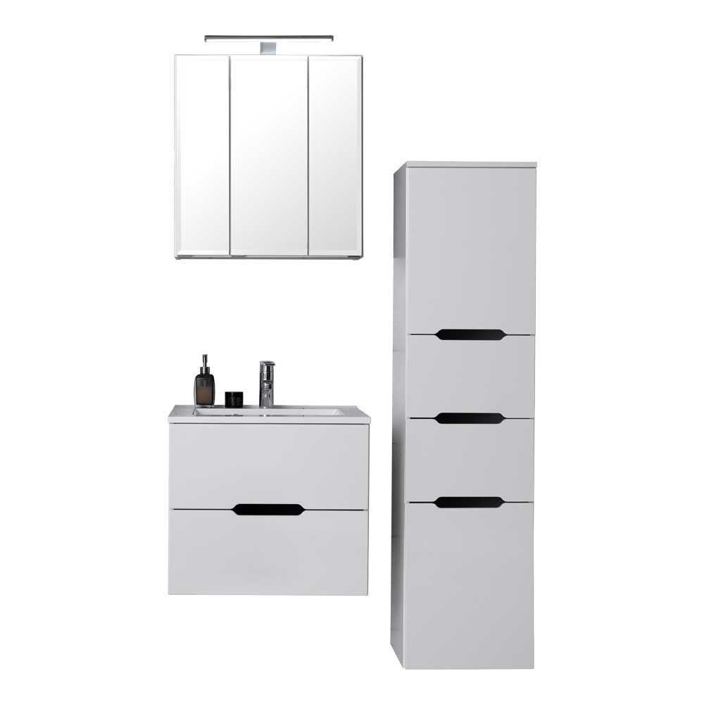 Badezimmermöbel In Weiß LED Beleuchtung (3 Teilig) Jetzt Bestellen Unter:  ...