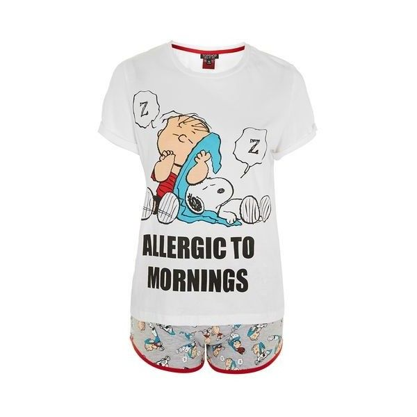 TopShop Snoopy Pyjama Set (2,685 INR) ❤ liked on Polyvore featuring ...