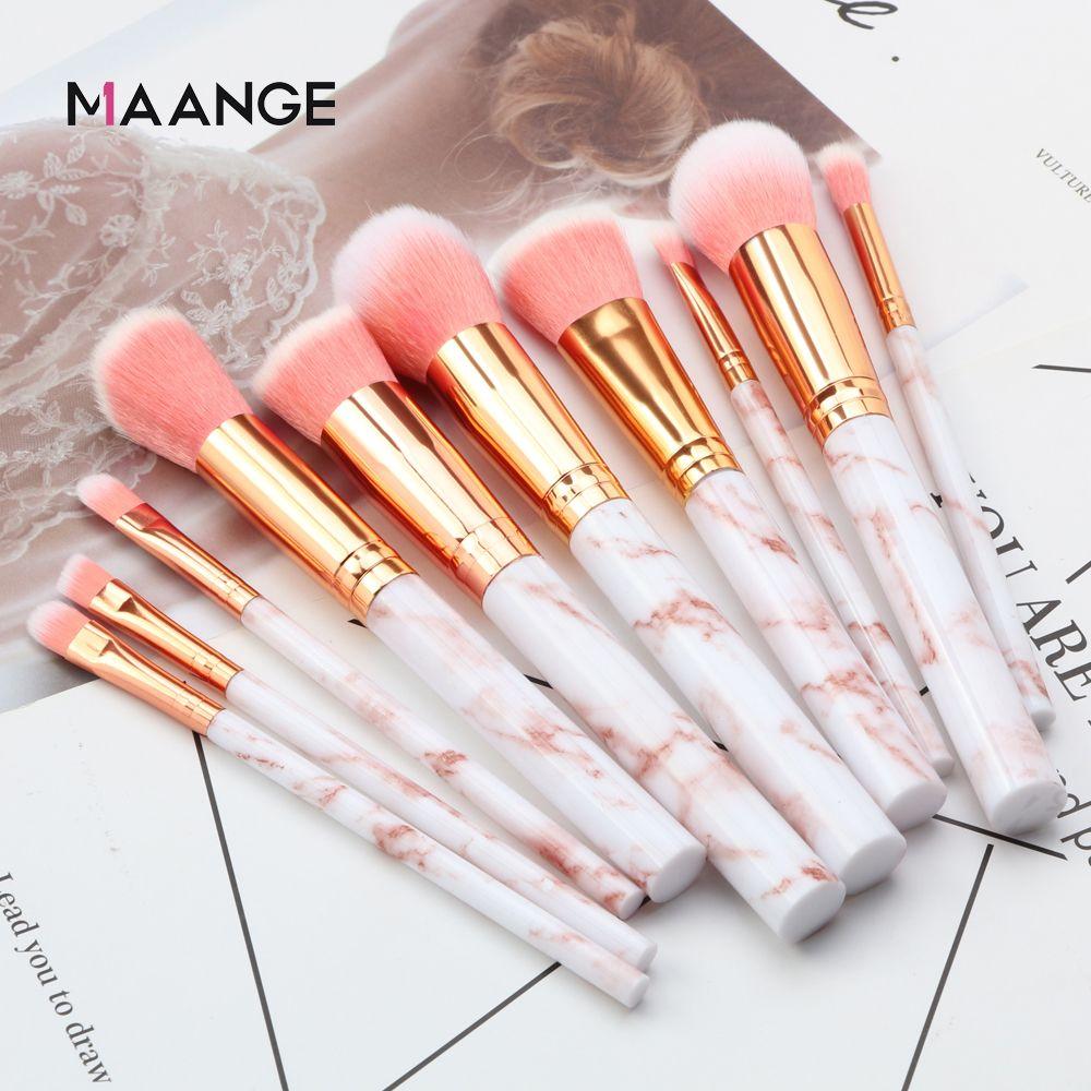 10 Pcs professional makeup brush Set tools Powder