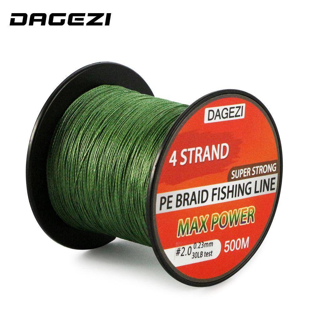 DAGEZI 500m 10-90LB 4 strand braidedfishing lines Super Strong ...