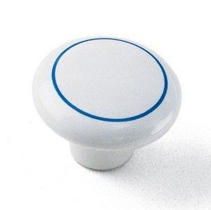 Laurey Cabinet Knob, 1 1/2″ Ceramic Knob - Delft with Ring