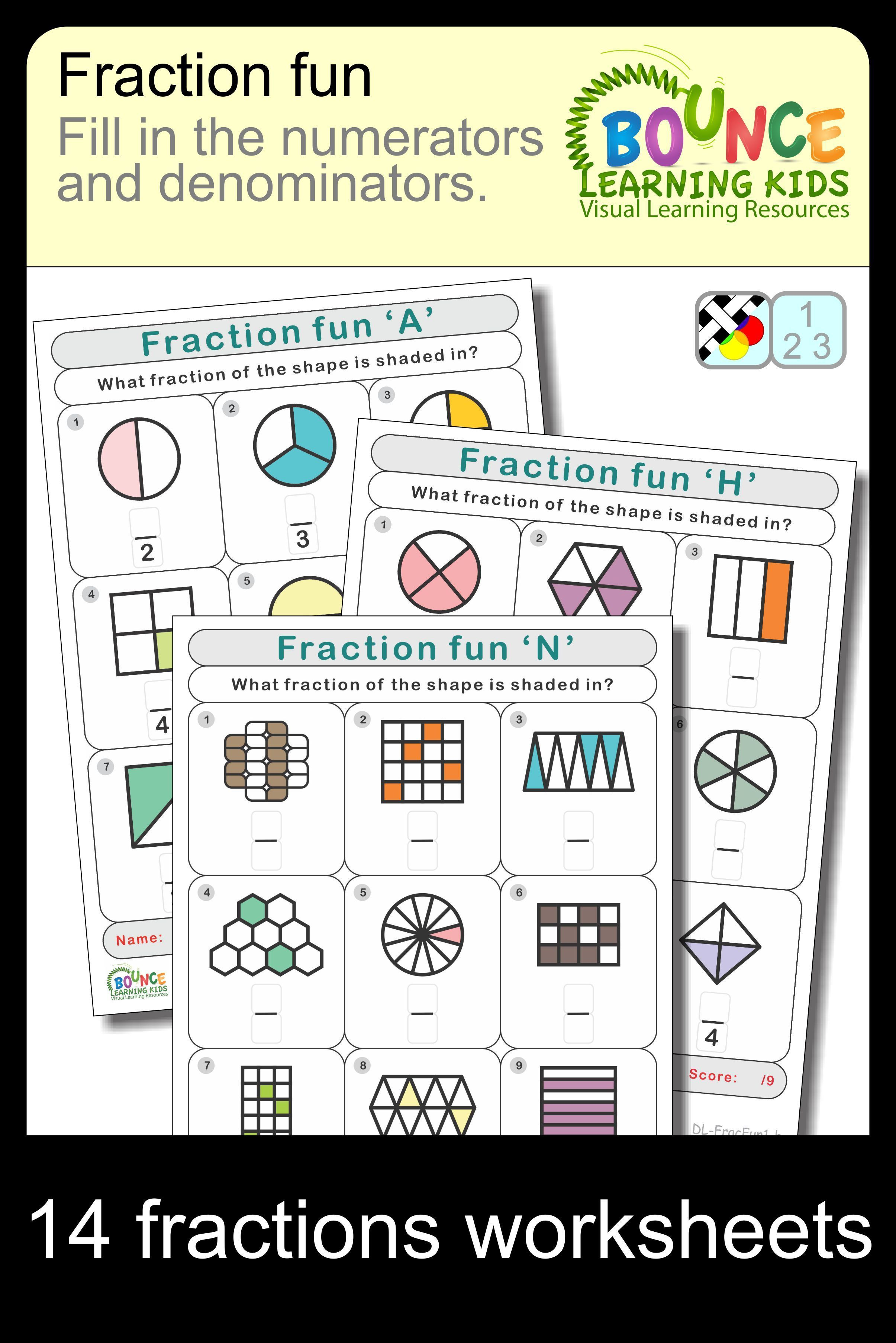 Fraction Fun 14 Distance Learning Worksheets For Numeracy