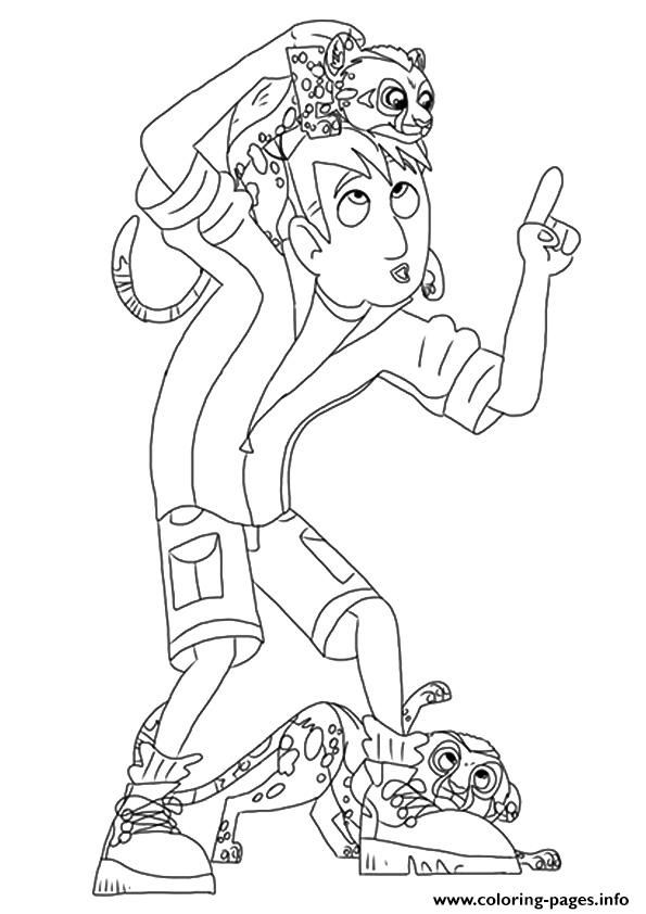 wild kratts the martin coloring pages printable and coloring book to print for free find more coloring pages online for kids and adults of wild kratts the - Wild Kratts Coloring Book