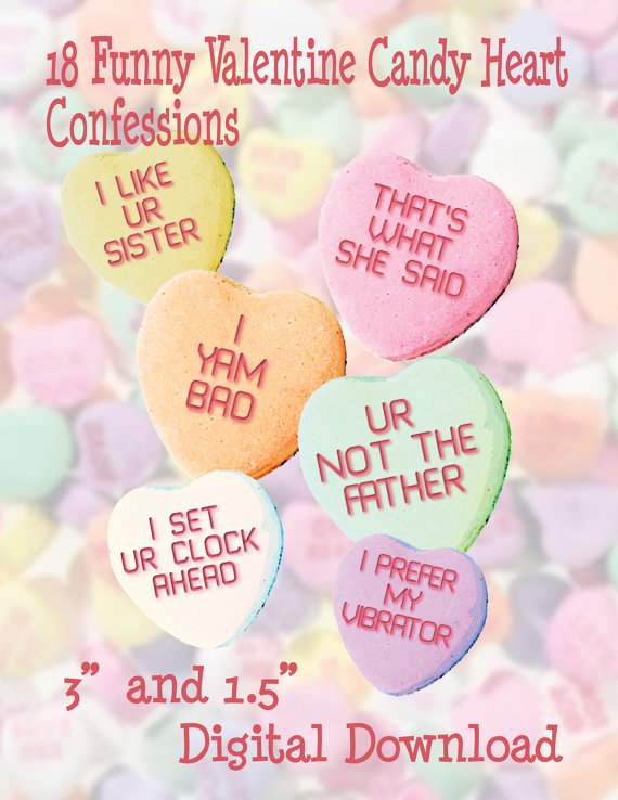 Conversation Heart Clipart Candy Heart Clipart Funny Candy Hearts