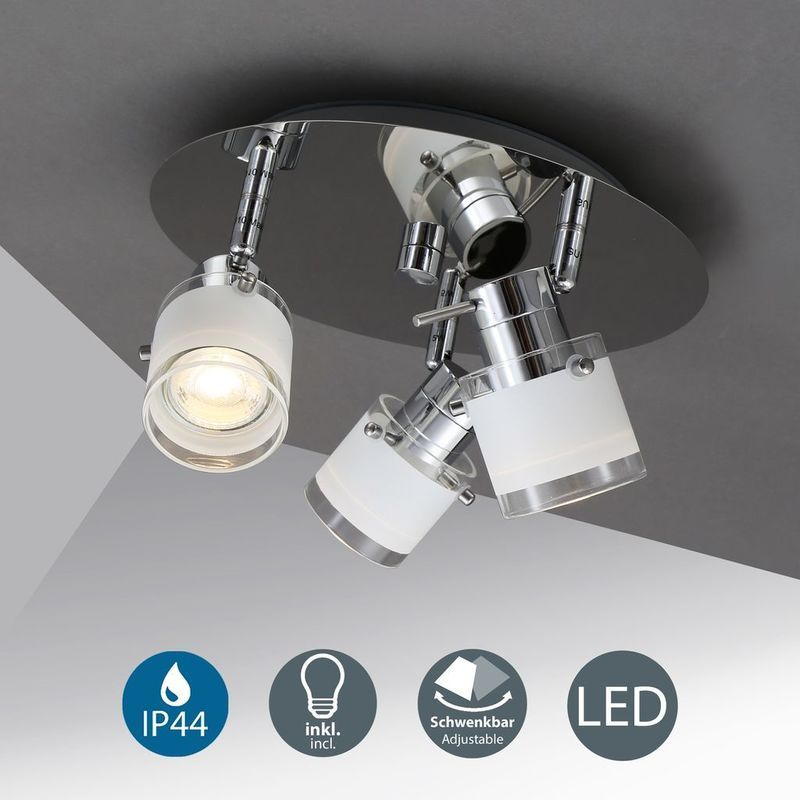 Bathroom Bklicht Ceiling Designer Gu10 Ip44 Led Light Spotlights Spots Led Ceiling Light Bathroom Spotlights Designer Ceiling In 2020 Lamp Ceiling Lights Led