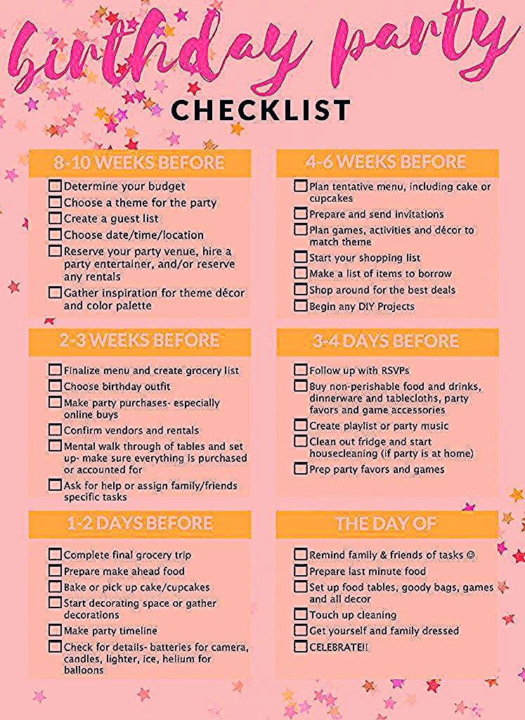 Photo of Party Planning Checklist Kids