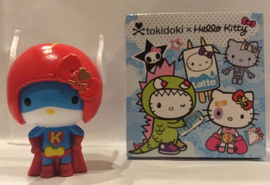 Tokidoki X Hello Kitty Super Hero Flash Blind Box Vinyl Mini Toy Super Kitty #Tokidoki