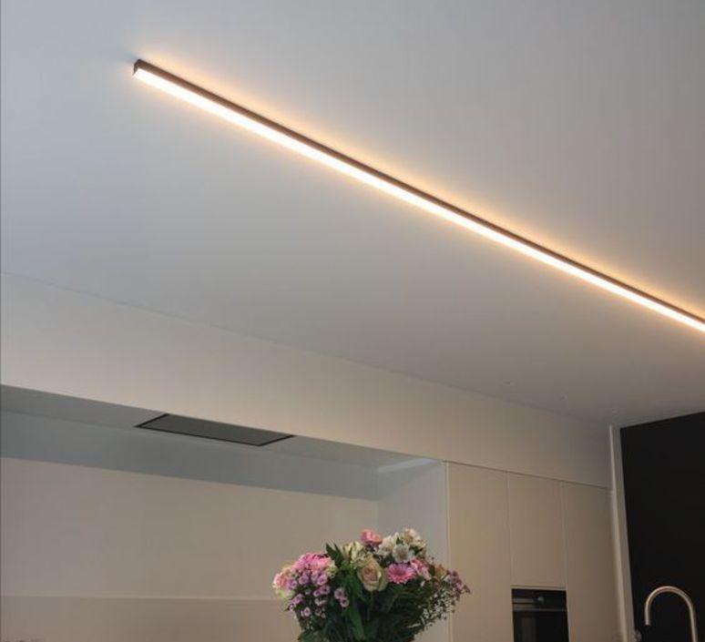 Elegant Homeinterior Design: Plafonnier, Profil , Ninza C, Noir, LED, 2700K, 440lm