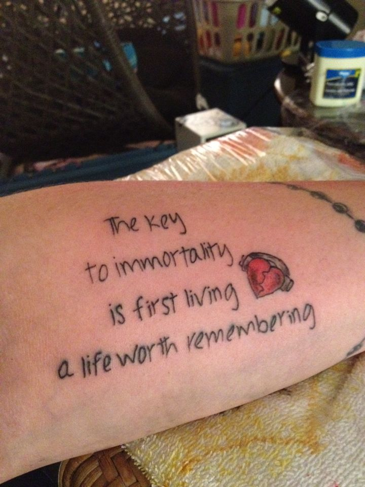 Live Life Quotes Tattoos