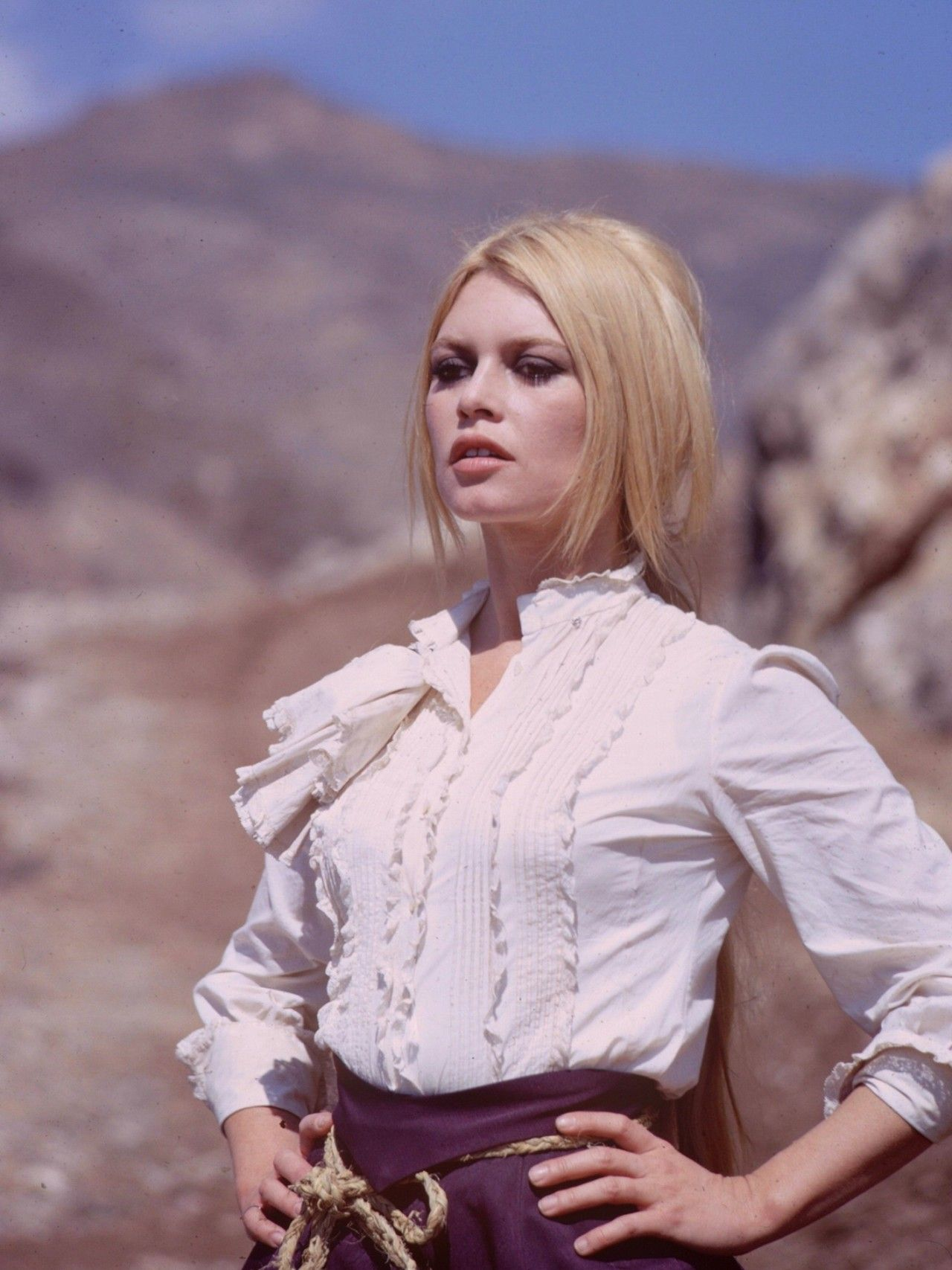 "Brigitte Bardot filming ""Shalako, 1968 Bridget bardot"