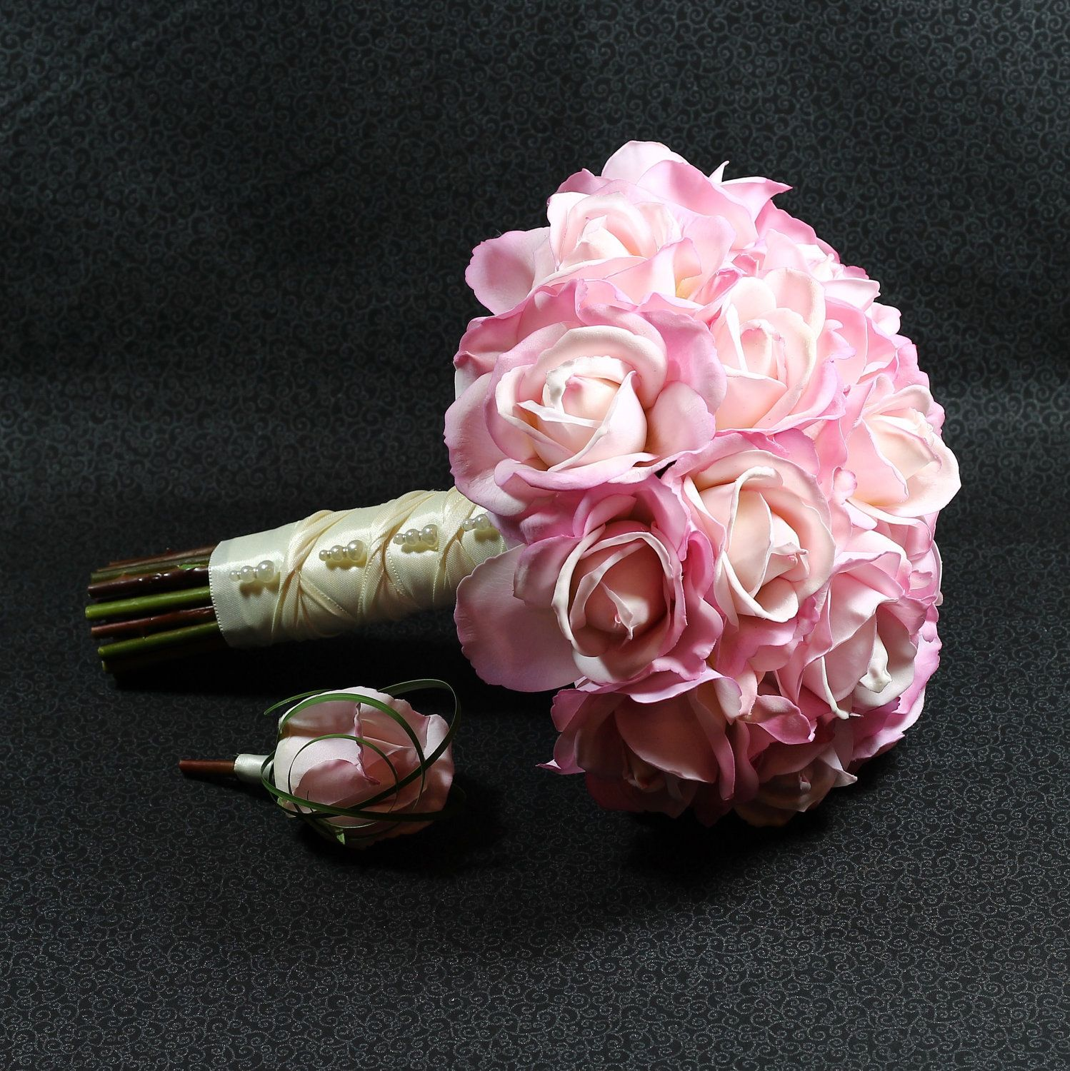 Custom Color Wedding Bouquet  Real Touch Roses. 9 by GlamFloral, $13.00