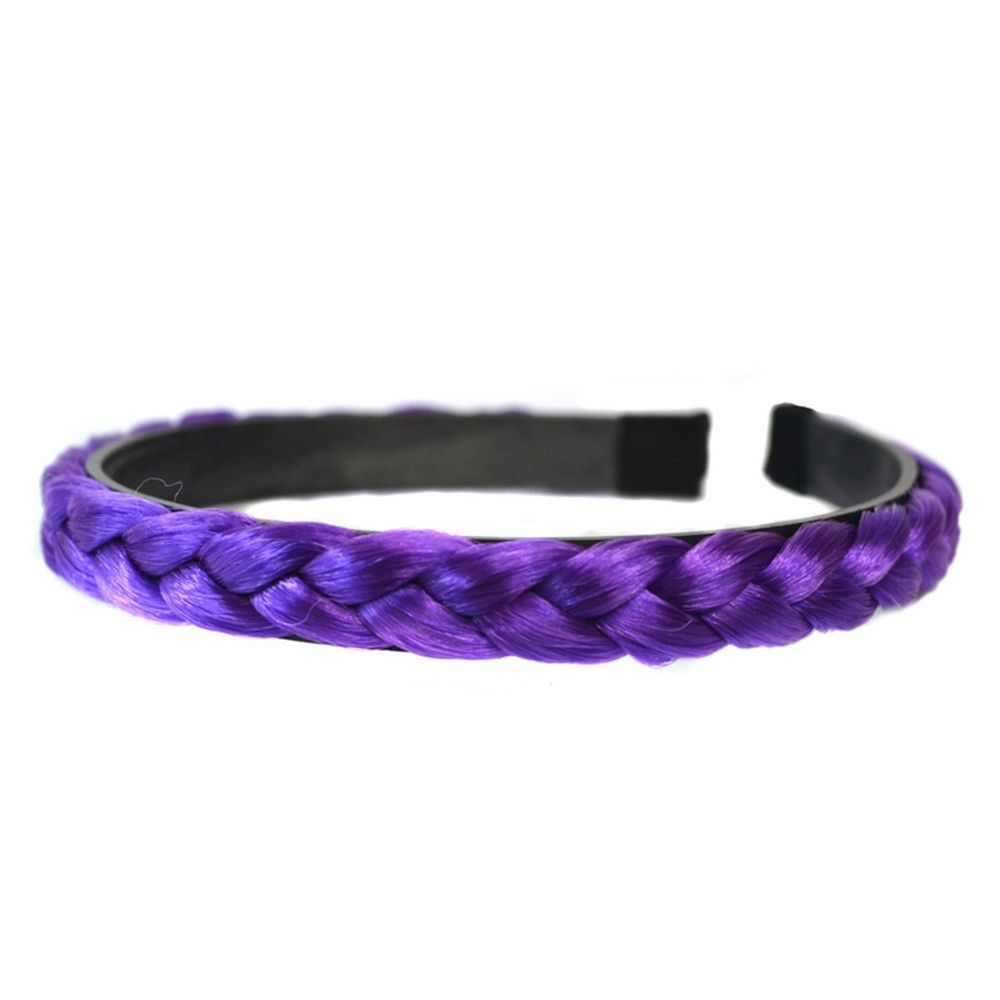 Braid Wig Hair Band Hair Clasp purple