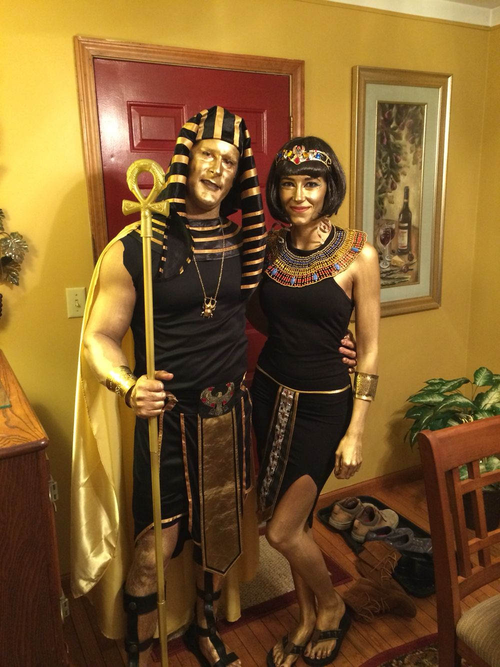 golden egyptian costumes couples costume cleopatra costuming