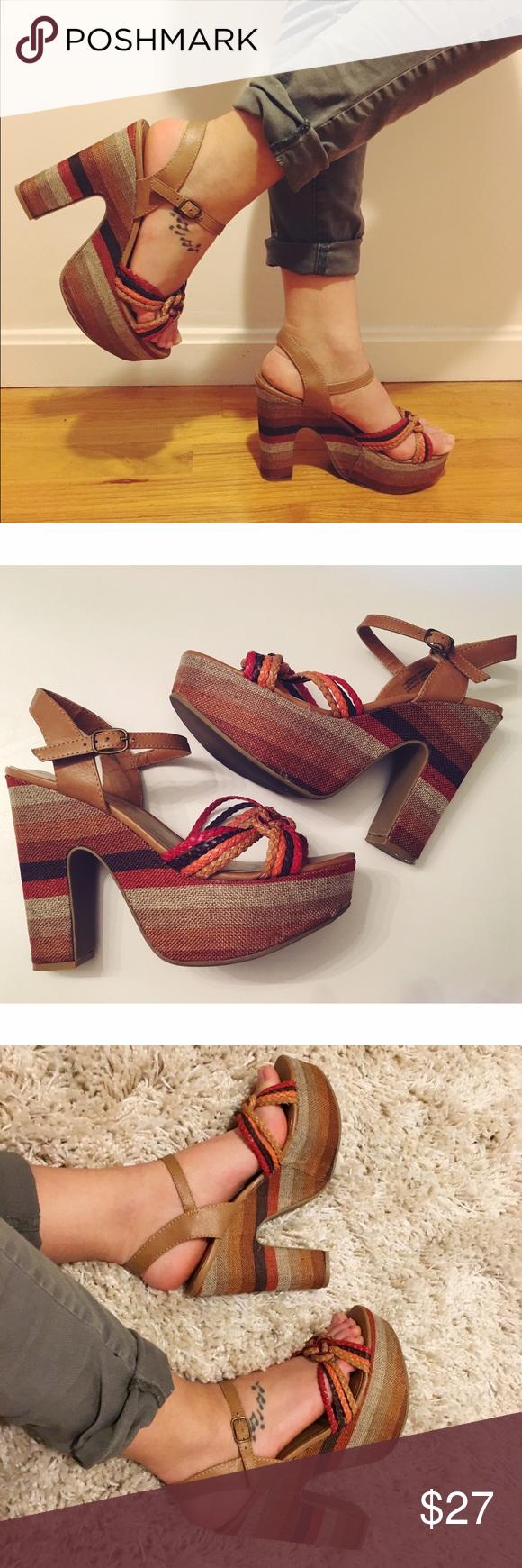 Chunky heels sandals