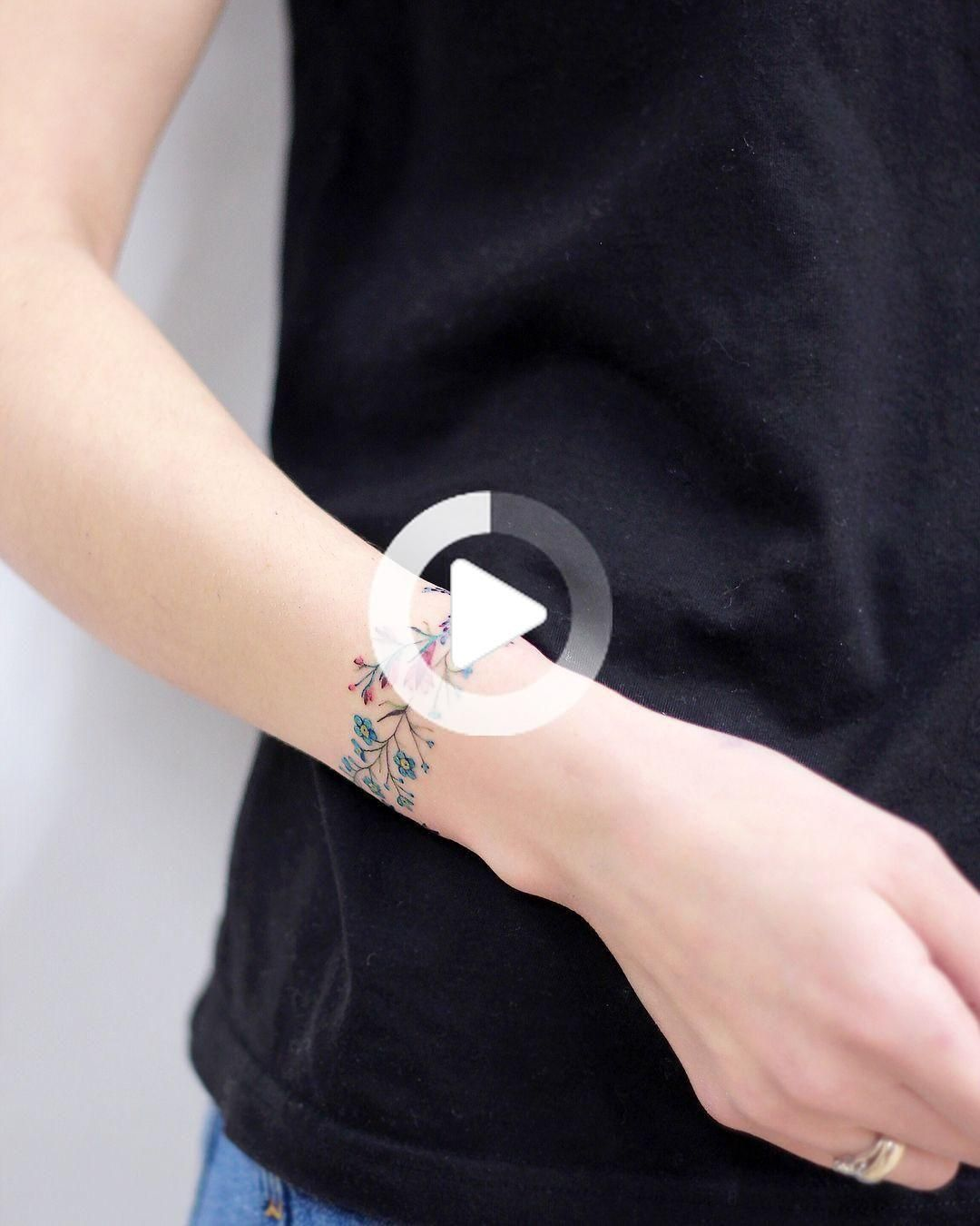 74 Bracelet Tattoo to Get Inspired If You Love Accessories