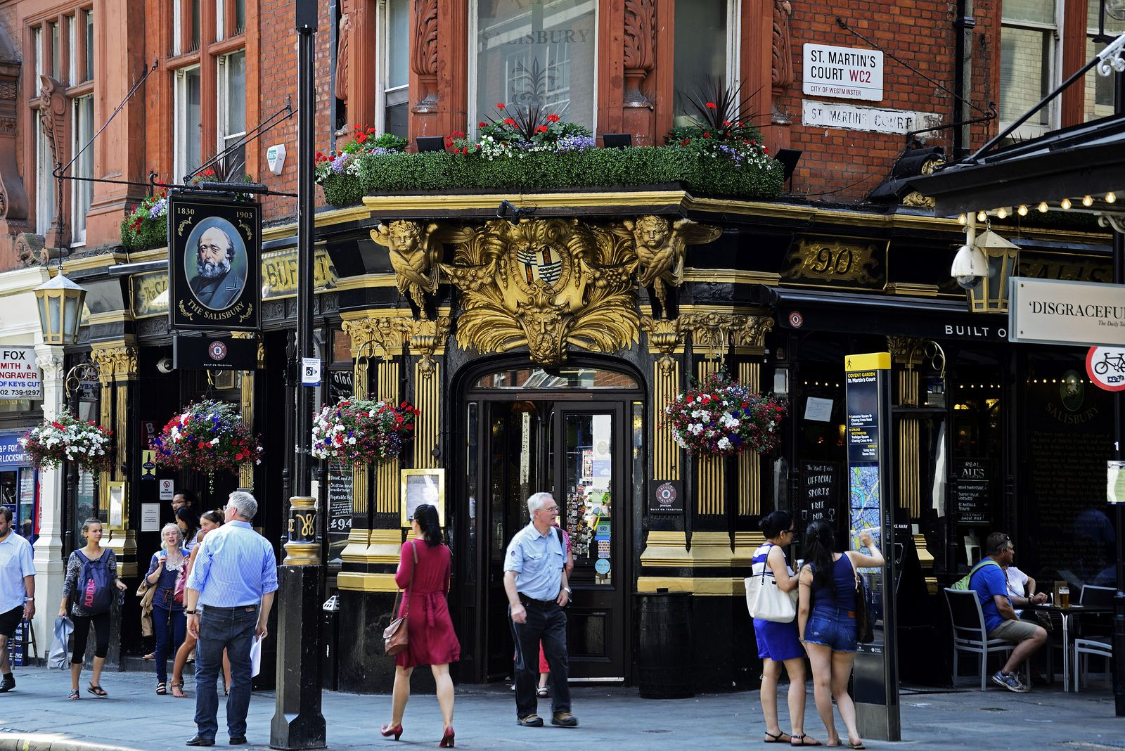 The Salisbury Pub St Martins Lane Covent Garden London 18 07 2013