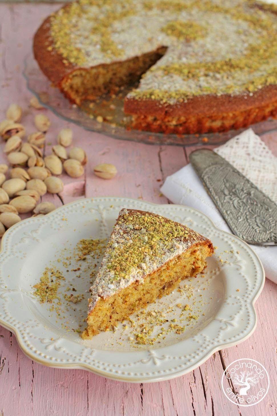 Cocinando entre olivos tarta de pistachos almendras y for Cocinando entre olivos