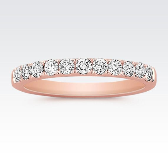 This Ultra Feminine Wedding Band Is Crafted In Quality 14 Karat Rose Gold Eleven