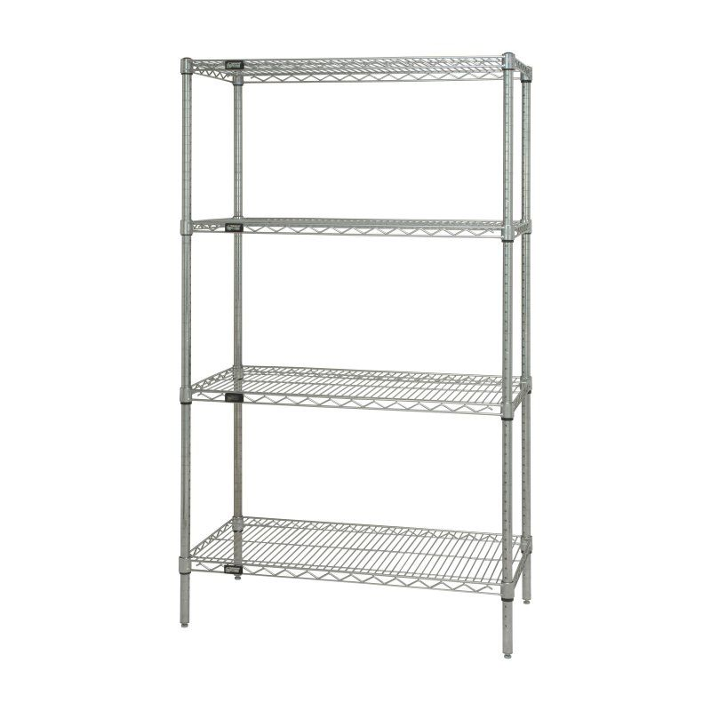 Quantum 48 in. Chrome Wire Shelving - WR63-2448C | Wire shelving and ...