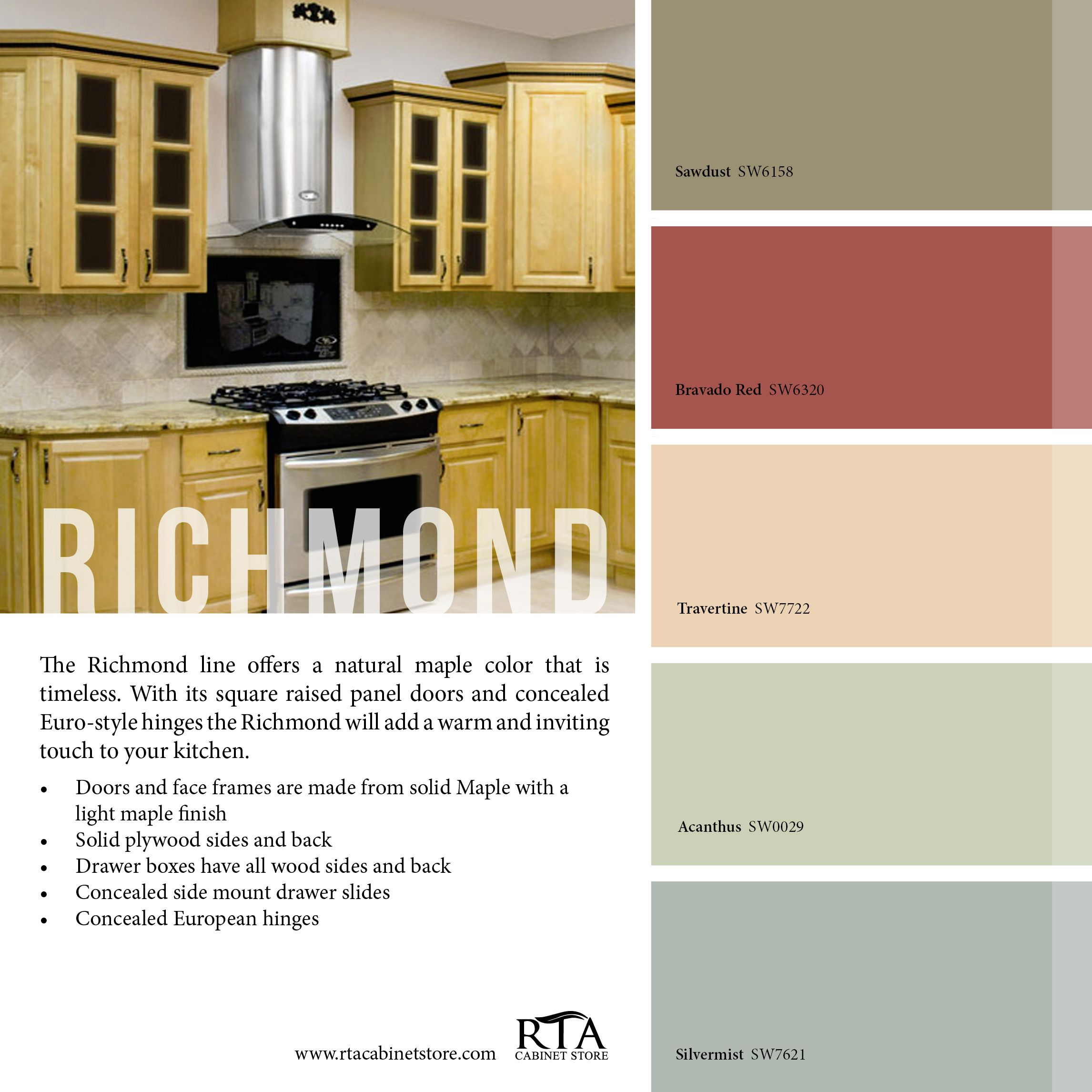 Color Palette To Go With Our Richmond Kitchen Cabinet Line Don T Like The Cabinet Color In The Decor Color Palette Online Kitchen Design Kitchen Tools Design