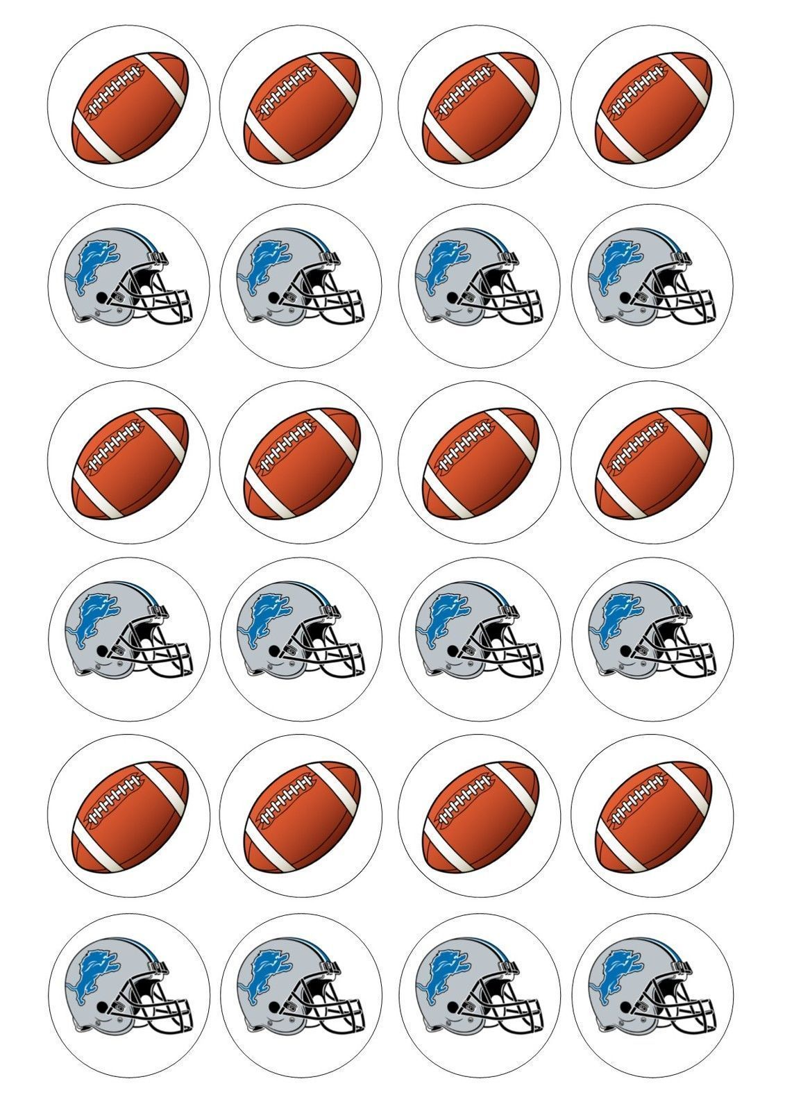 Details About 24 American Football Iced Cupcake Topper Fairy Cake Toppers Edible American What Is The Best Season For Doing Sports Calling Summer Is T En 2020