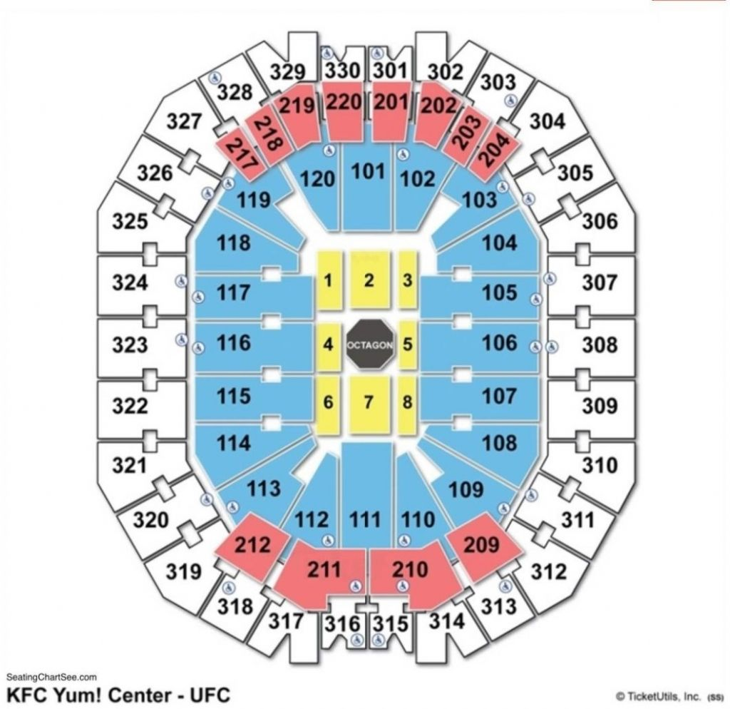 Stylish Kfc Yum Center Seating Chart With Row Letters