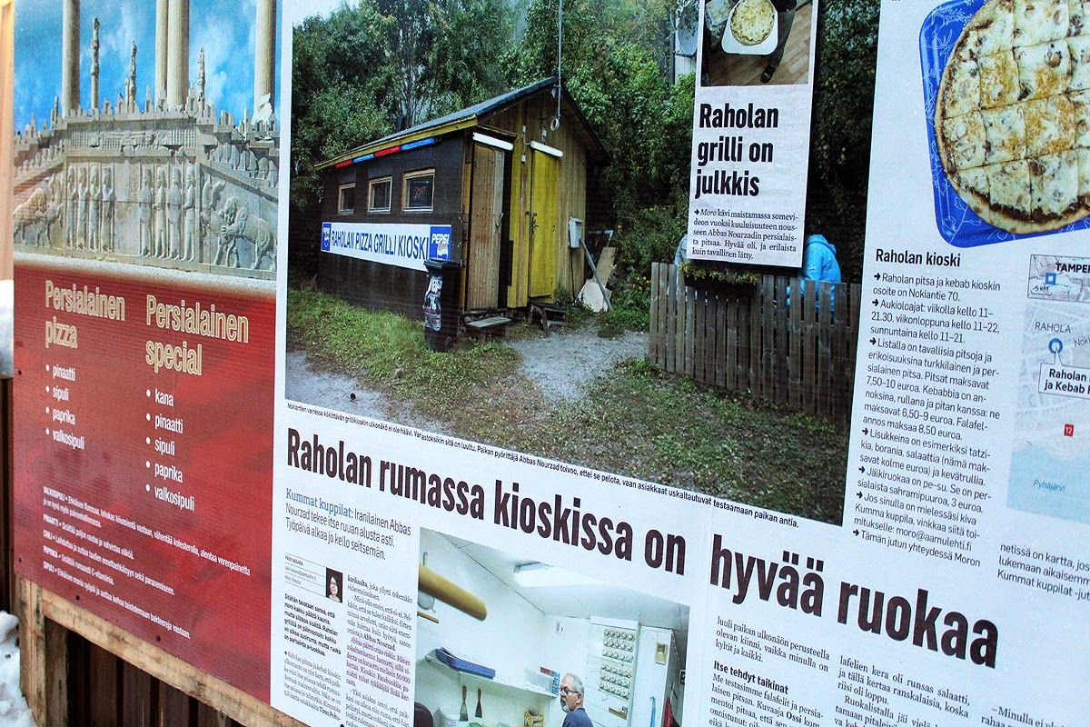 Raholan kioski #tampere #finland - Suomen parhaat pizzat!