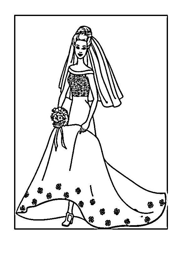 Barbie Tegninger til Farvelægning 61 | Kleuren | Pinterest