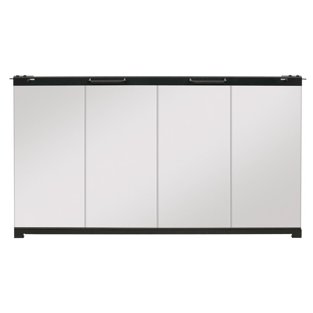 Dimplex 33 In Glass Bi Fold Doors For 33 In Firebox Insert