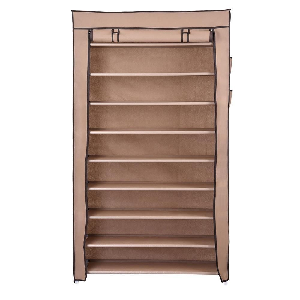 Merveilleux 10 Tiers 45 Pairs Shoe Rack Shelf Closet U0026 Cover Color Options