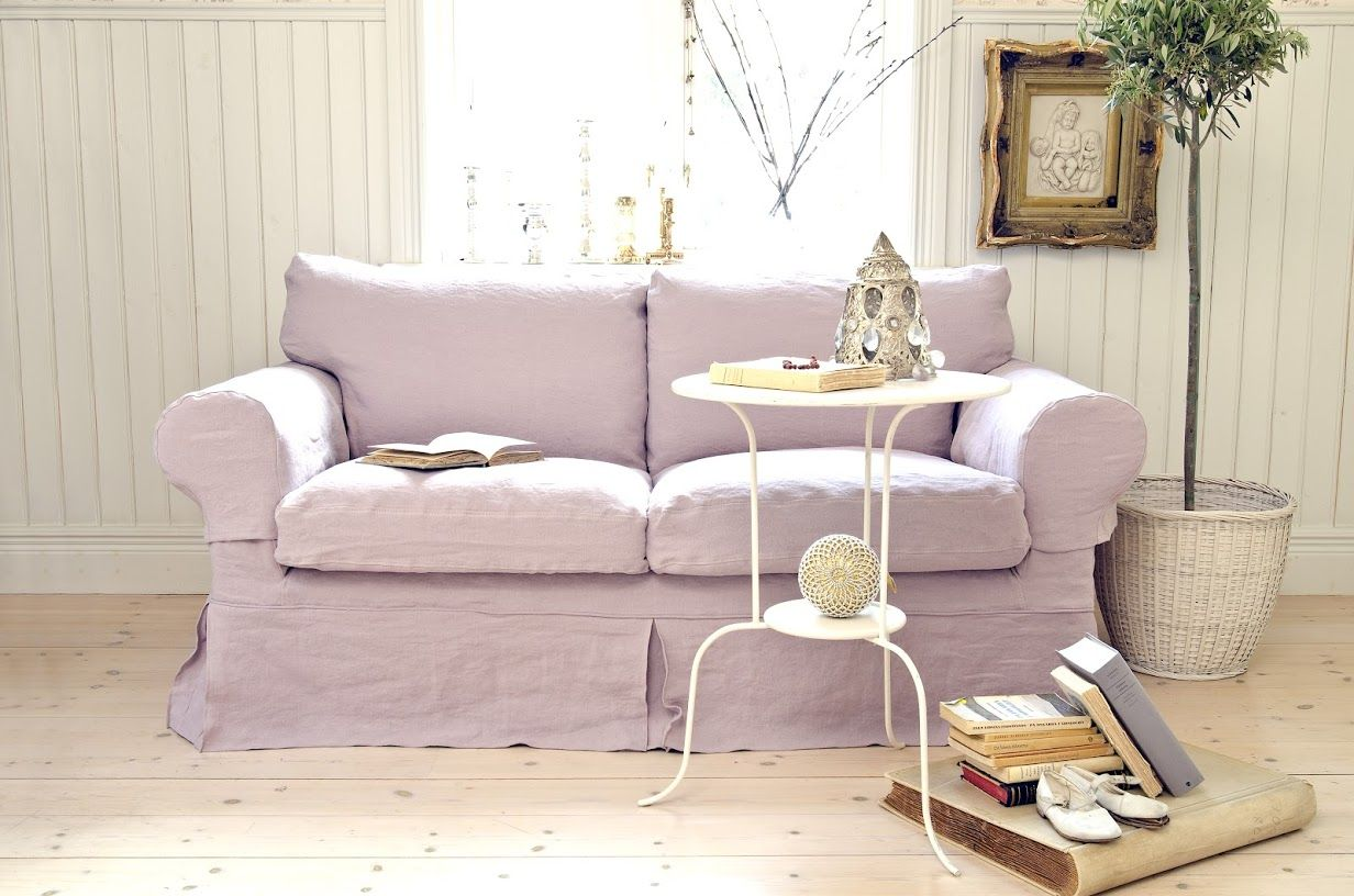 Lavender Sofa Slipcover Rp 2 Seater Sofa Cover Loose Fit