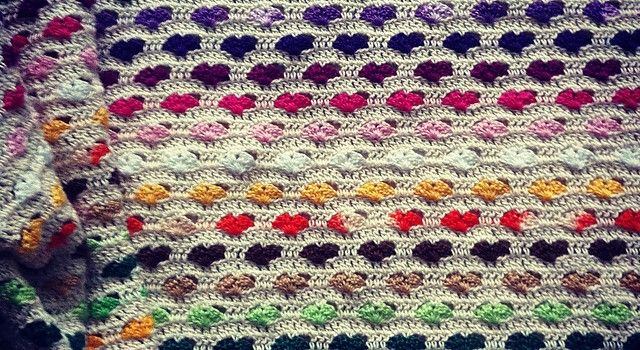 Free Pattern Adorable Blanket Of The Hearts For Someone You Love