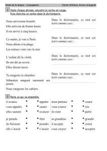 Fiche grammaire ce1 à imprimer   Endroits à visiter ...