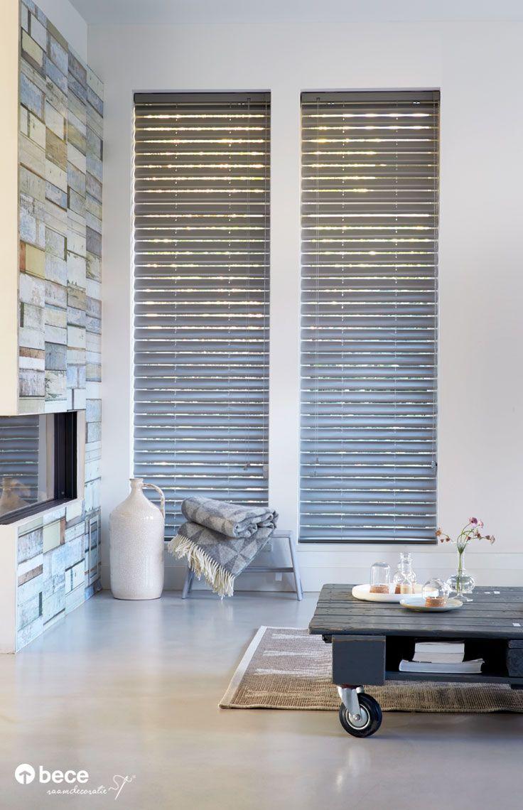 Vlinder jaloezie bece raamdecoratie for Raamdecoratie hout