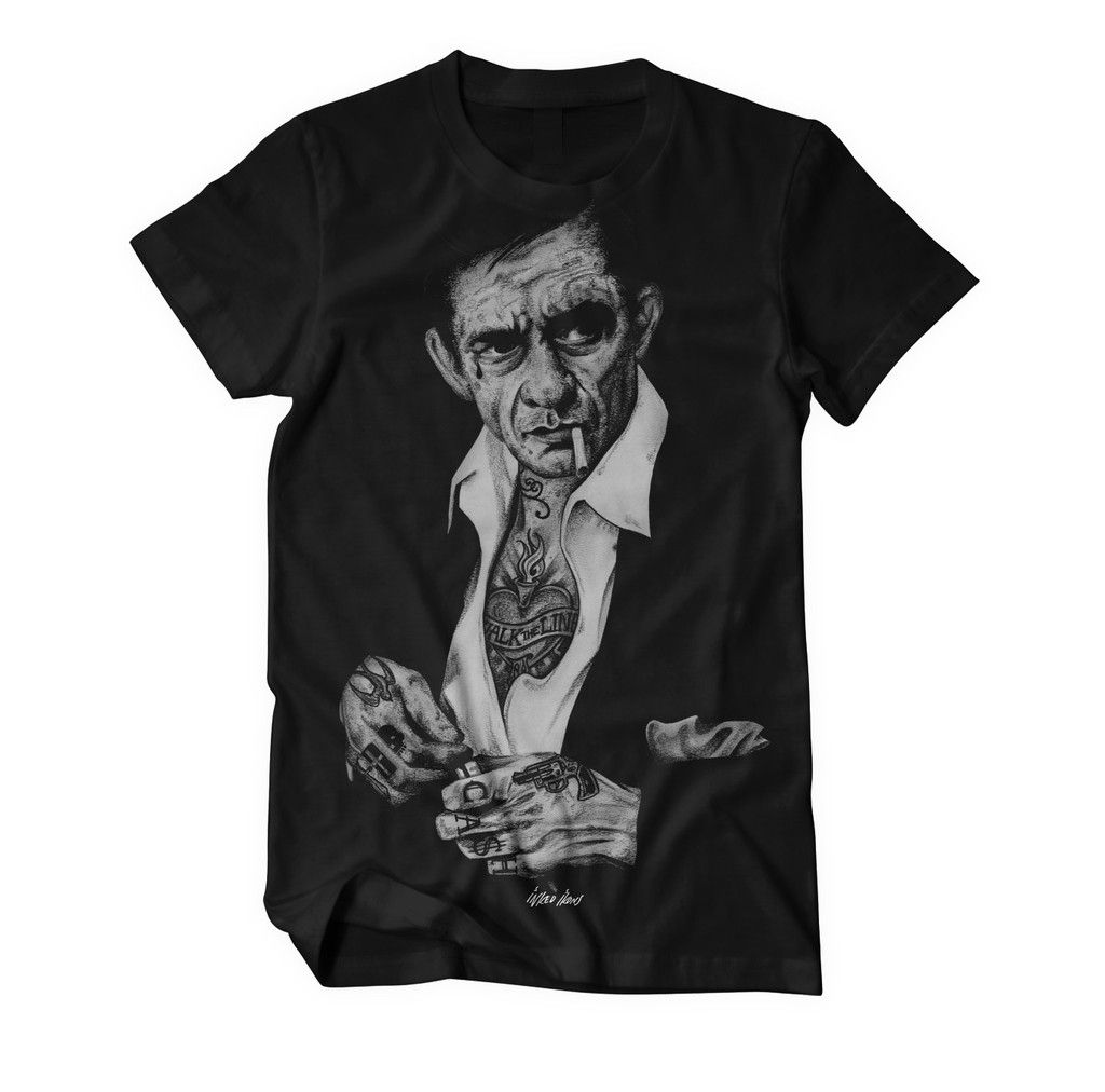 18 INKED IKONS Johnny Cash T-Shirt