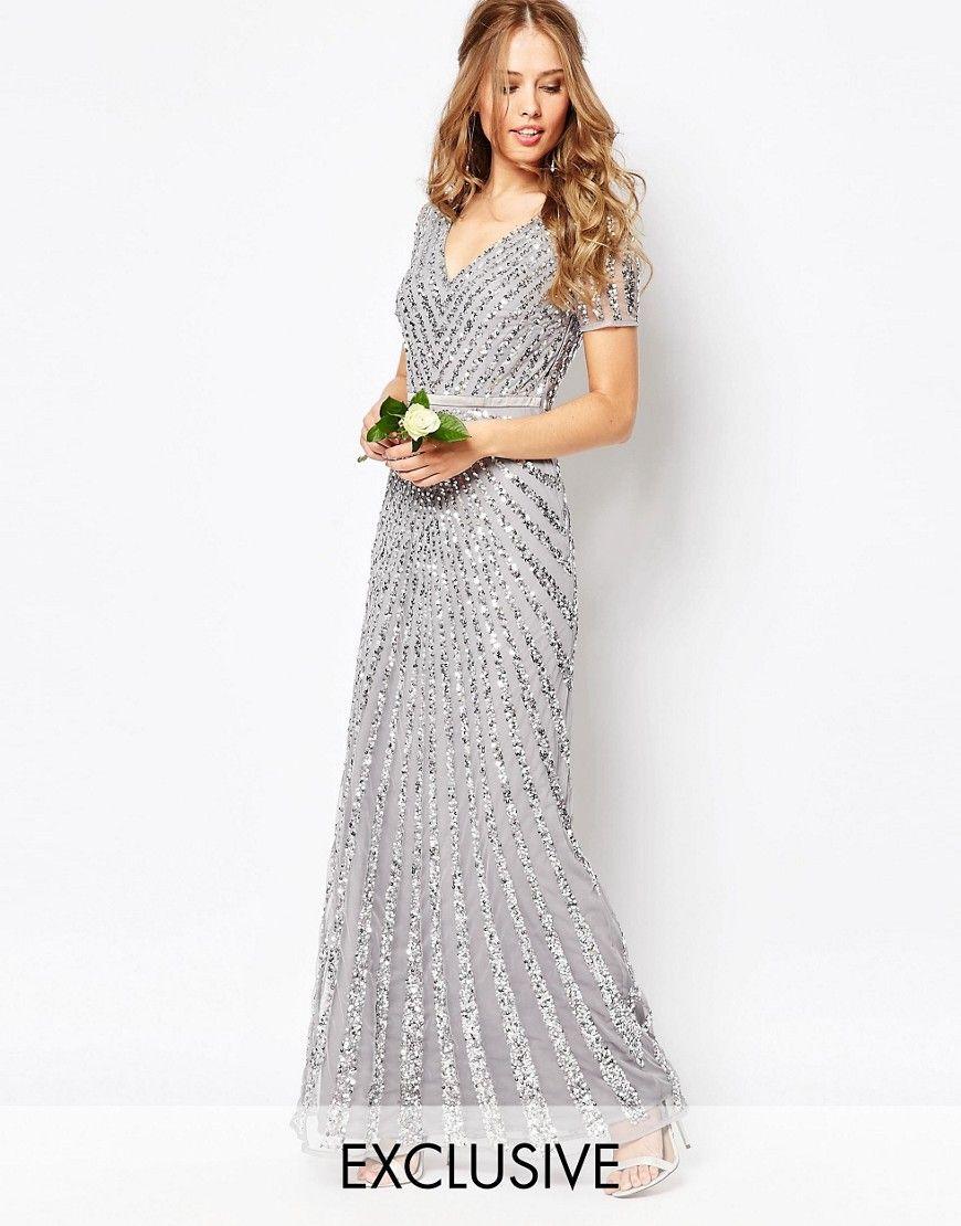 Image 1 ofMaya Sequin All Over Maxi Dress