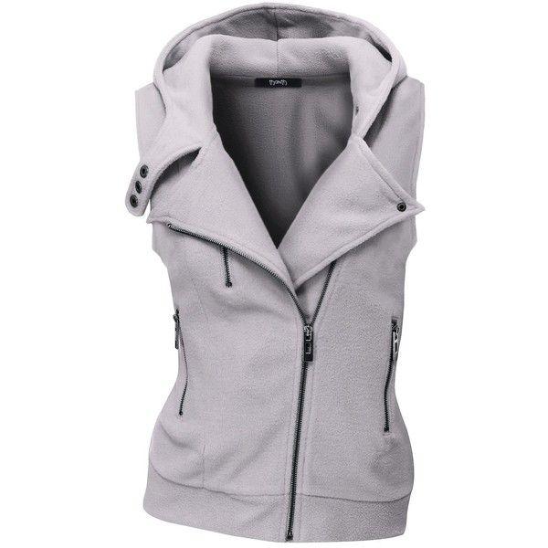 XQS Mens Sleeveless Stand Collar Down Vest Outwear