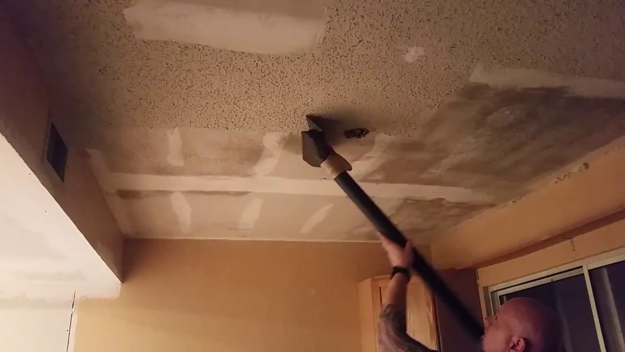 Clean Popcorn Ceiling Removal Easy And