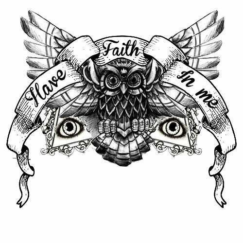 Have Faith In Me Tattoo Flash Art Chest Piece Tattoos Chest
