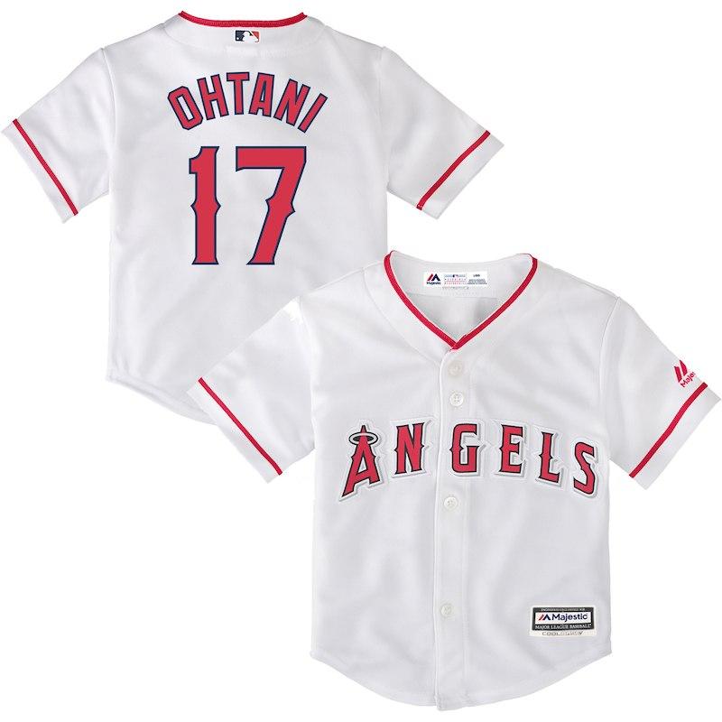e374c23f9 Shohei Ohtani Los Angeles Angels Infant Home Replica Player Jersey – White