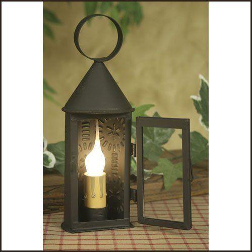 Mini Butner Electric Lantern By Colonial Tin Works 19 95 Mini Butner Electric Lantern This Punched Tin La Electric Lanterns Electric Candle Lamp Candle Lamp